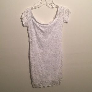 White off the shoulder dress from Charlotte Russe